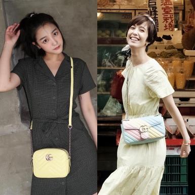 Vương Tịnh & Trần Đình Ni xuống phố cùng những chiếc túi xách ngọt ngào của Gucci