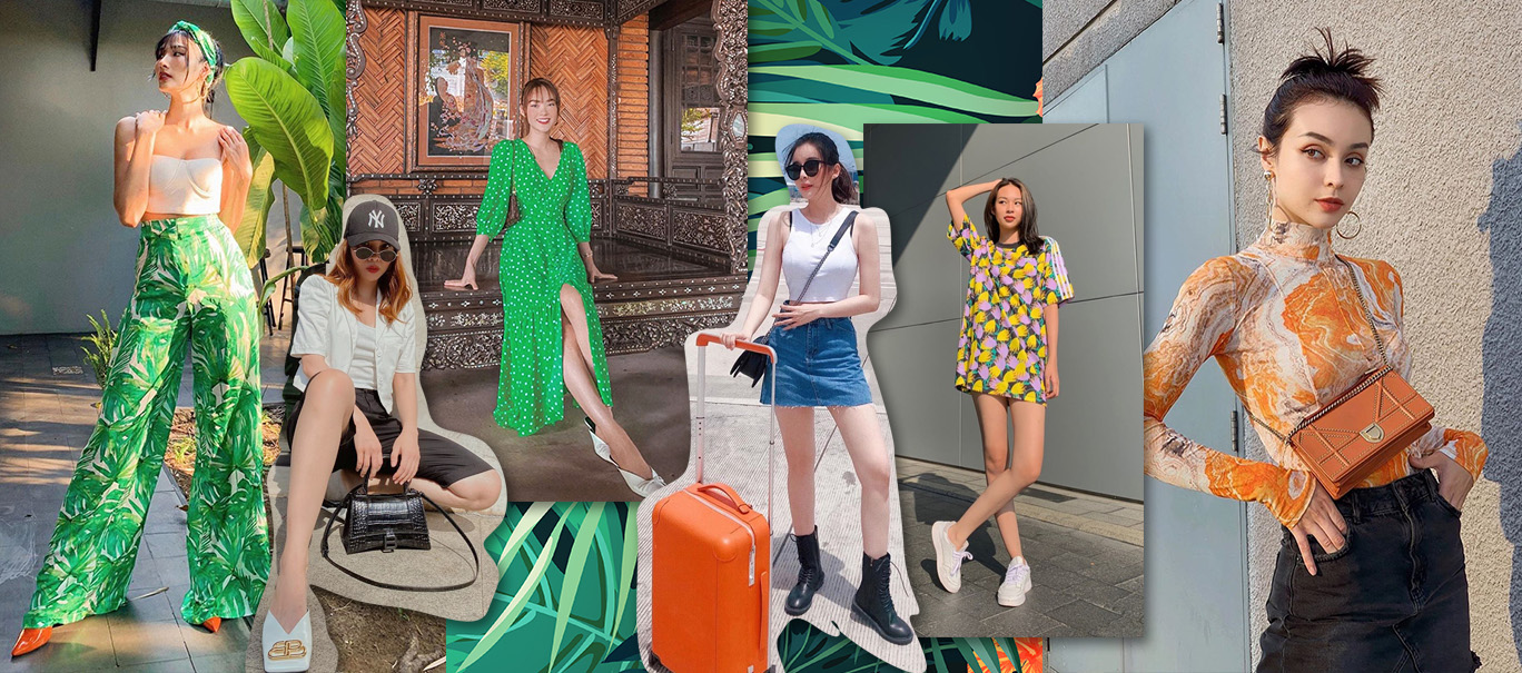Street style xanh mướt, ngập nắng mùa hè của dàn sao Việt