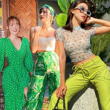 Street style xanh mướt, ngập nắng mùa hè của dàn sao Việt tuần qua