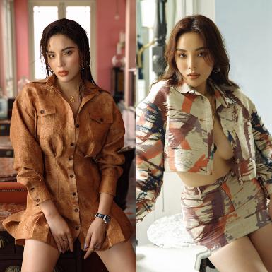 Hoa hậu Kỳ Duyên yêu kiều, gợi cảm trong các thiết kế của NTK Lê Thanh Hòa