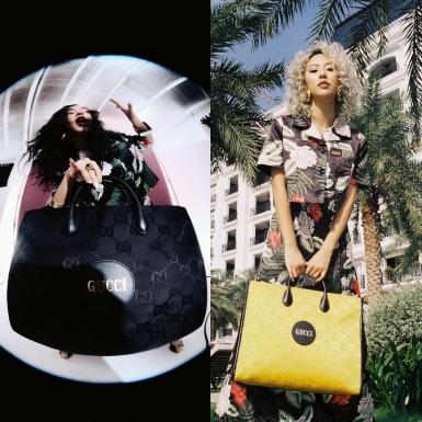 """Châu Bùi, Quỳnh Anh Shyn, Kelbin Lei và Decao xuất thần với các item trong BST """"Off The Grid"""" của Gucci"""