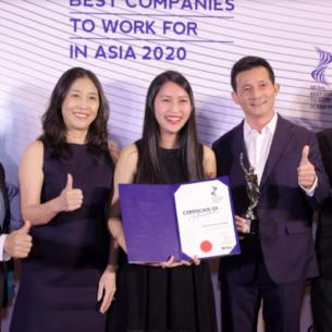 """""""Nơi làm việc tốt nhất châu Á 2020"""" gọi tên một đại diện đến từ Việt Nam"""