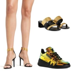 """""""Thổn thức"""" trước vẻ đẹp của những thiết kế giày ánh kim từ Giuseppe Zanotti"""