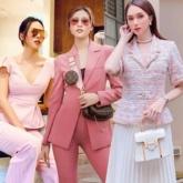 """Tông màu hồng """"phủ sóng"""" street style sao Việt tuần qua"""