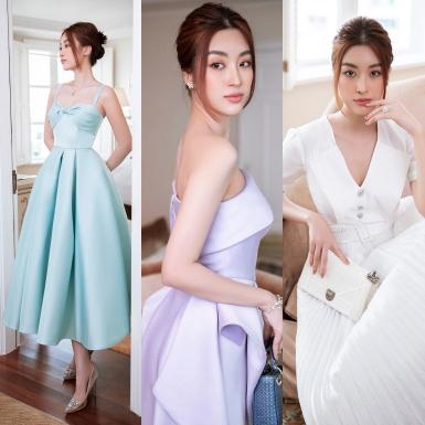 Hoa hậu Đỗ Mỹ Linh kiêu sa trong những thiết kế đầm tiệc mùa Thu của NTK Đỗ Long
