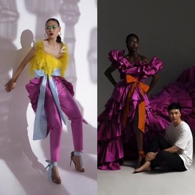 """Rác thải thời trang """"hồi sinh"""" trong các thiết kế Xuân Hè 2021 của NTK Trần Hùng"""