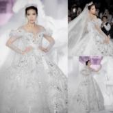 """Minh Tú diện váy cưới đính 50.000 viên pha lê, """"hút hồn"""" khách dự show """"Dear My Princess"""" của NTK Chung Thanh Phong"""
