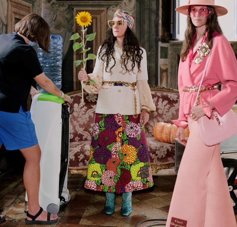 Gucci hé lộ chiến dịch quảng cáo BST Epilogue với những khung hình tươi sáng