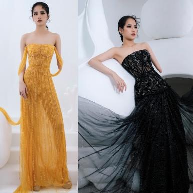 Người mẫu khuyết tay Hà Phương khoe vóc dáng với đầm dạ hội của Hà Duy