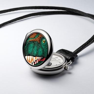 Khám phá nghệ thuật thuật khảm da đỉnh cao trên chiếc đồng hồ quả quýt Arceau Pocket Aaaaargh!