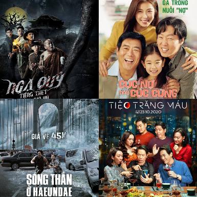 Dẫu thị trường phim chiếu rạp còn ảm đạm, nhưng phim Việt và châu Á vẫn chiếm thế thượng phong
