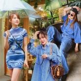 Street style giao mùa ngập sắc xanh của mỹ nhân Việt