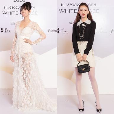Lynk Lee diện váy ren xuyên thấu, siêu mẫu Minh Tú tinh tế với đầm trắng trên thảm đỏ