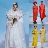 Người mẫu Lê Thúy bất ngờ trở lại sàn runway cùng siêu mẫu Minh Tú trong các thiết kế váy cưới của NTK Nguyễn Phương Đông
