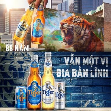 Tiger Beer kỷ niệm 88 năm – Vẫn một vị bia bản lĩnh