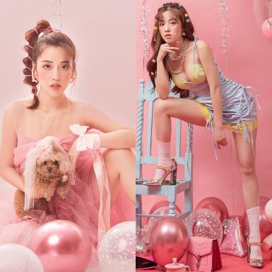 """Nữ diễn viên Puka hóa """"city girl"""" ngọt ngào, tinh nghịch trong bộ ảnh sắc hồng trẻ trung mừng tuổi mới"""