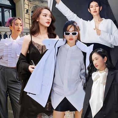 """Trang phục đen trắng tái xuất """"sàn diễn"""" street style sao Việt tuần qua"""