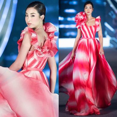 Hoa hậu Đỗ Mỹ Linh hóa hương hoa mỹ nhân thả dáng trong thiết kế đầm lụa tuyệt đẹp tại đêm thi Hoa hậu Việt Nam 2020