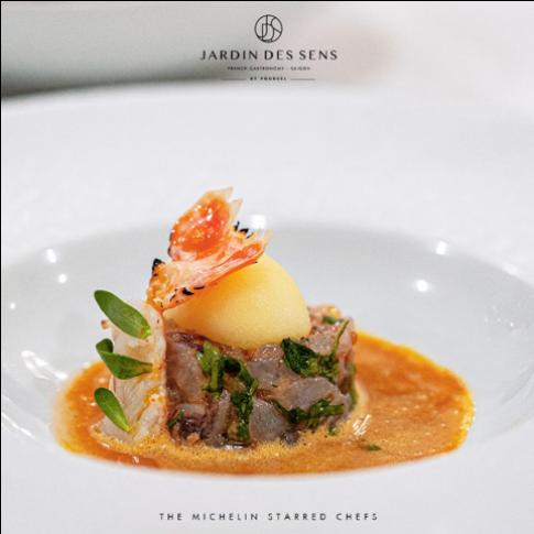 Đêm ẩm thực đầy thi vị cùng hai đầu bếp Sakal Phoeung và Frederic Thevenet tại Jardin Des Sens