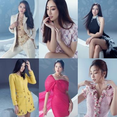 """Nhan sắc của 6 nàng hậu """"thăng hạng"""" trong trang phục dạ hội, gây thương nhớ qua từng khung hình"""