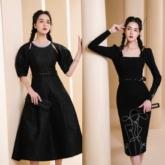 Á hậu Hoàng Anh gợi ý mặc đồ màu đen sang chảnh suốt tuần