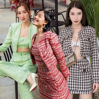 """Trang phục matchy-matchy """"càn quét"""" street style mỹ nhân Việt"""