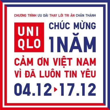 Kỷ niệm 1 năm đến Việt Nam, UNIQLO mang đến hàng loạt hoạt động và chương trình hấp dẫn