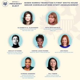 Lần đầu tiên trong lịch sử, đội ngũ truyền thông cao cấp của Nhà Trắng đều là phụ nữ