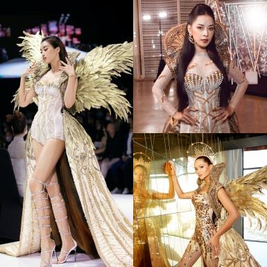 """H'Hen Niê, Đỗ Mỹ Linh và Chi Pu """"so găng"""" với cùng một thiết kế từ BST """"The Valley of Goddess"""""""