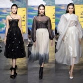 Top 3 Hoa hậu Việt Nam 2020 mở màn, siêu mẫu Thanh Hằng làm vedette kết show thời trang của NTK Trần Hùng