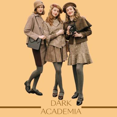 Đi tìm công thức phối đồ Dark Academia cho những cô nàng yêu thích phong cách cổ điển