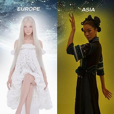 """Lâm Bích Tuyền """"phân thân"""" quyến rũ với 4 hình tượng Âu – Á – Mỹ – Phi"""