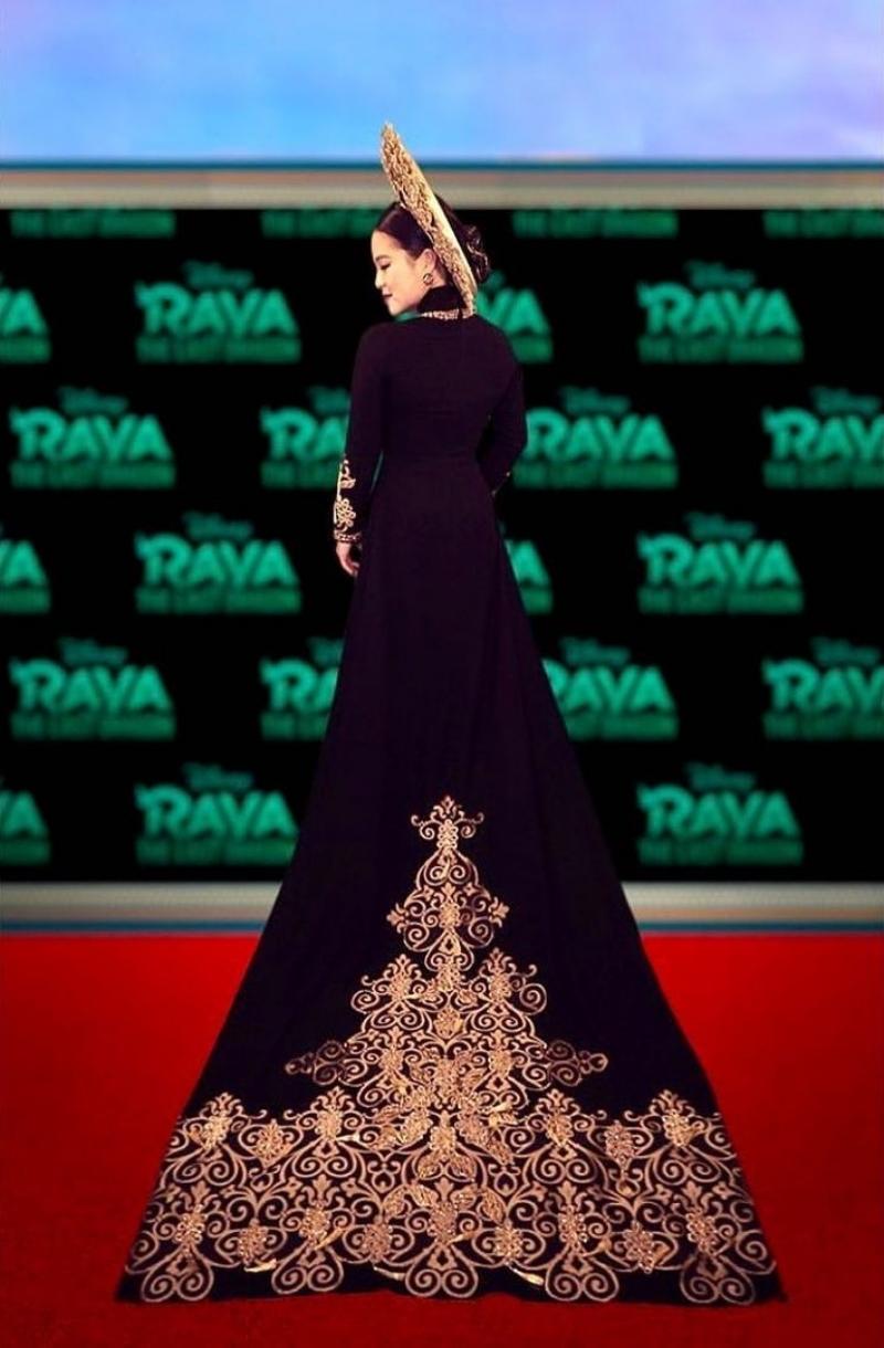 """Công chúa Raya"""" Kelly Marie Tran lộng lẫy trên thảm đỏ trực tuyến trong  thiết kế áo dài từ NTK Thái Nguyễn - Tạp chí Đẹp"""