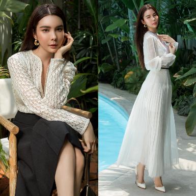 Hoa hậu Huỳnh Vy e ấp trong các thiết kế trang phục resort sang trọng của NTK Nguyễn Phương Đông