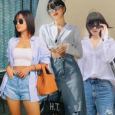 """Combo sơ mi, quần jeans """"phủ sóng"""" street style sao Việt"""