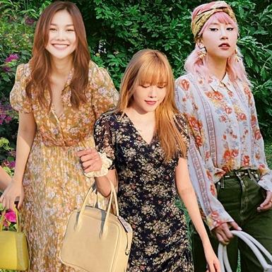 """Sao Việt """"bùng nổ"""" nhan sắc với đầm in hoa trong loạt street style tuần qua"""