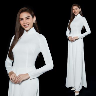 """Võ Hoàng Yến """"biến hóa"""" xuất thần với đầm dạ hội và áo dài trắng"""