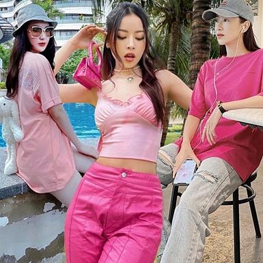 """Gam màu hồng """"thống trị"""" street style sao Việt tuần qua"""