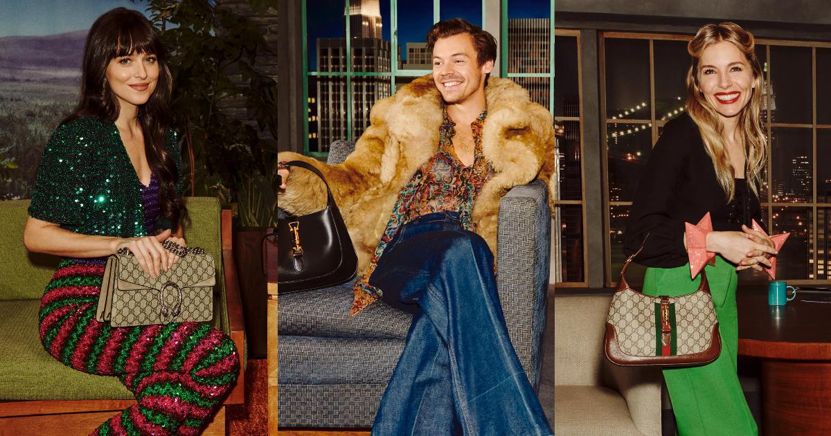 Harry Styles, Dakota Johnson, Awkwafina… khoe những mẫu túi xách yêu thích nhất tại buổi talkshow Gucci Beloved