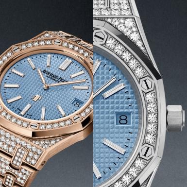"""""""Lóa mắt"""" trước 3 mẫu đồng hồ Royal Oak mới được dát 1.102 viên kim cương"""