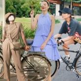 Sao Việt tích cực đạp xe thể dục, tranh thủ khoe street style khỏe khoắn