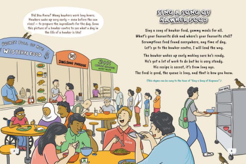 an phan van hoa hawker du lich singapore - 1
