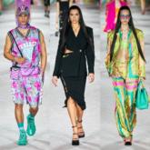 Dấu ấn hoài niệm thập niên 80 – 90 của nhà mốt Versace trong BST Xuân Hè 2022