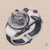 Chiếc đồng hồ độc bản với thiết độc đáo mô phỏng hình gấu trúc