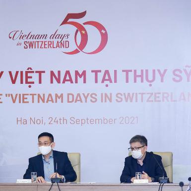 Ngày Việt Nam tại Thụy Sỹ 2021: Ôn lại hành trình 50 năm quan hệ hợp tác giữa Việt Nam và Thụy Sỹ