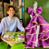 Đánh thức tuổi thơ ngọt ngào với BST đầm làm bằng các loại bánh cổ truyền Nam Bộ của NTK Nguyễn Minh Công