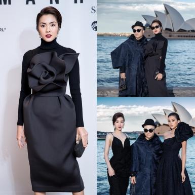 Tăng Thanh Hà đẹp không tì vết, sánh vai với Tiểu Vy, Đỗ Mỹ Linh tại show diễn của NTK Đỗ Mạnh Cường ở Sydney, Úc