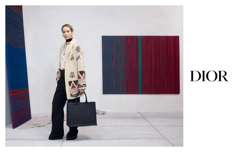 jennifer lawrence, túi xách, nữ diễn viên, 30 montaigne, dior, christian dior, thu 2019, bộ sưu tập, chiến dịch, oblique, họa tiết, da, màu sắc